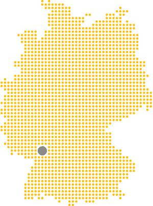 Bruchsal ist im Südwesten Deutschlands